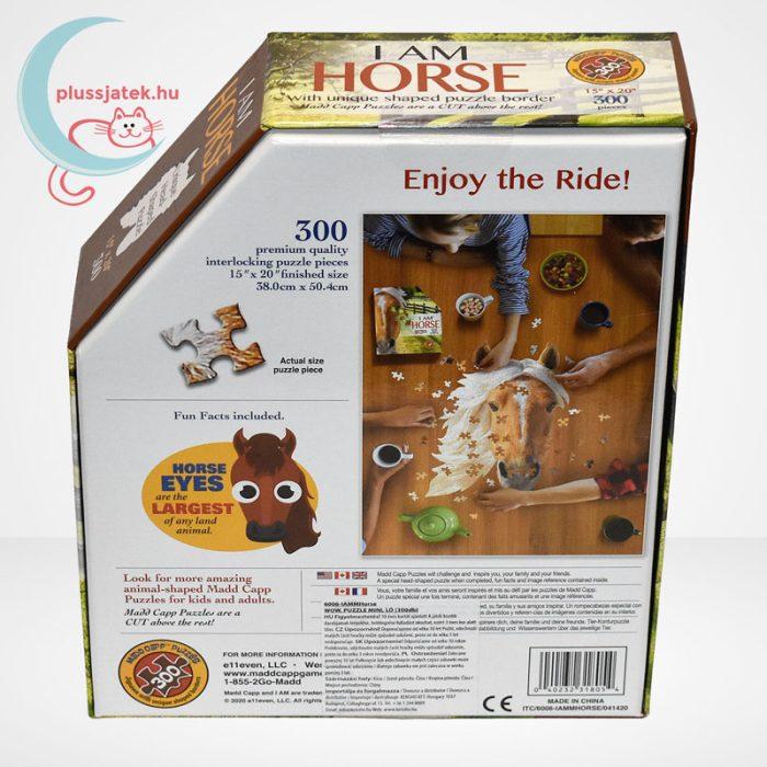 Wow poszter méretű forma puzzle – Ló, 300 db, a doboz hátulról