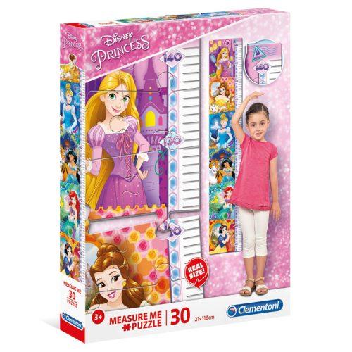 Disney Hercegnők: Mérj meg! magasságmérő 30 db-os Clementoni puzzle (20328)