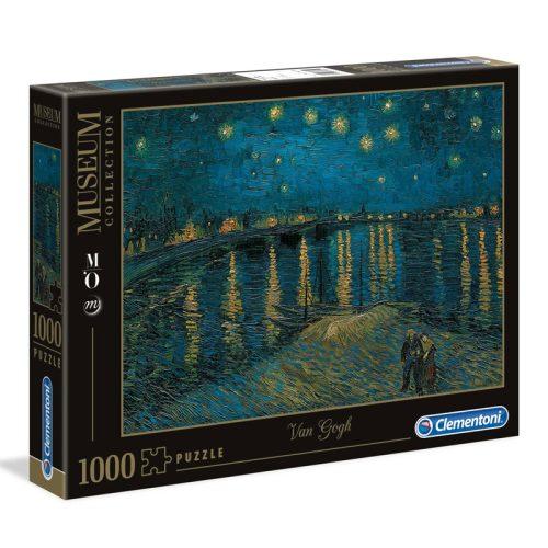 Museum Collection: Van Gogh – Csillagos éj a Rhône fölött (Starry Night) 1000 db-os puzzle – Clementoni (39344)