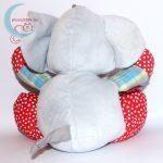 Tiamo ABC elefánt plüss babáknak hátulról