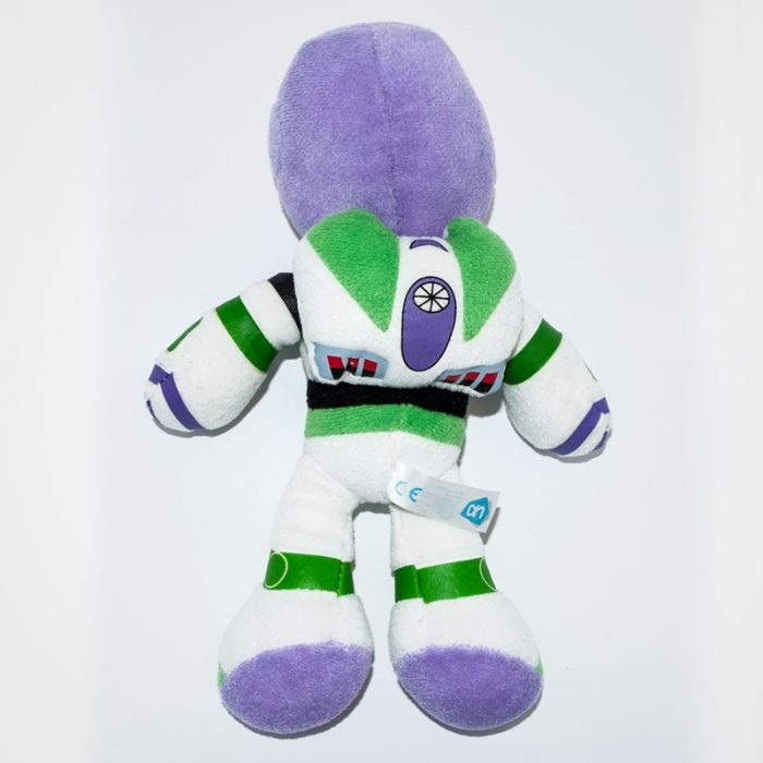 Buzz Lightyear Toy Story plüssjáték hátulról