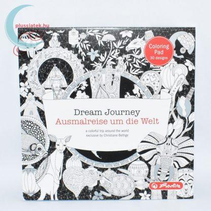Dream Journey 30 képes felnőtt színező, kifestő tömb hátulról
