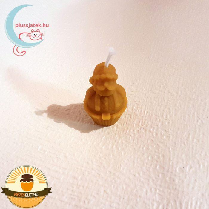 ELMA Mikulás alakú méhviasz gyertya felülről