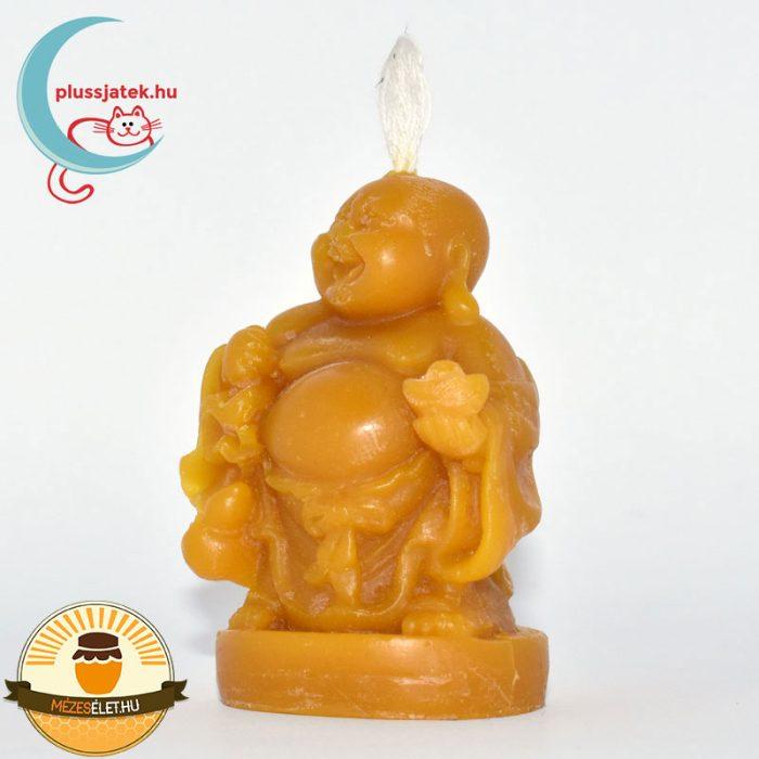 ELMA nevető Buddha méhviasz gyertya balról