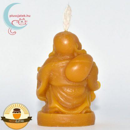 ELMA nevető Buddha méhviasz gyertya hátulról