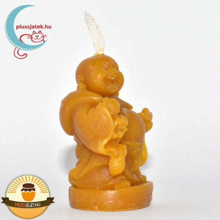 ELMA nevető Buddha méhviasz gyertya jobbról