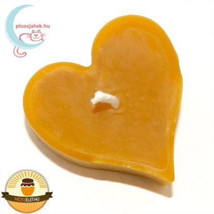ELMA szív alakú méhviasz gyertya felülről