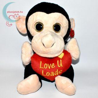 Hatalmas csillogó szemű szerelmes plüss majom