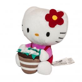 Hello Kitty virágkosárral elölről