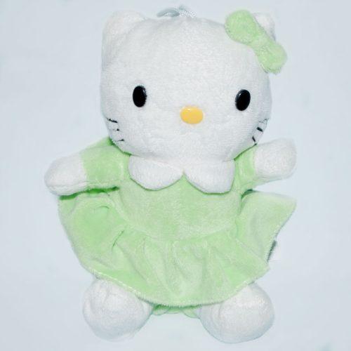 Hello Kitty zöld ruhácskában