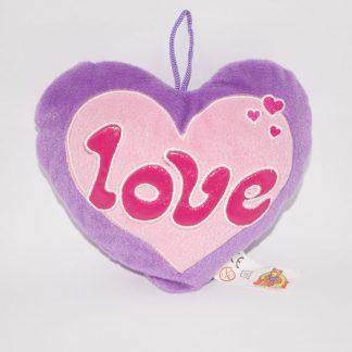 Lila plüss szív szerelmeseknek olcsón