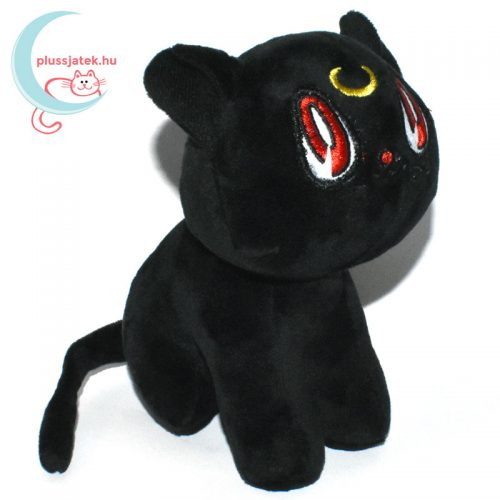 Luna fekete plüss macska (Sailor Moon cica) jobbról
