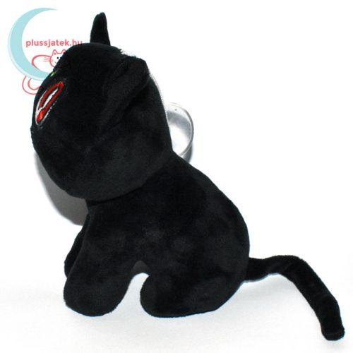 Luna fekete plüss macska (Sailor Moon cica) oldalról