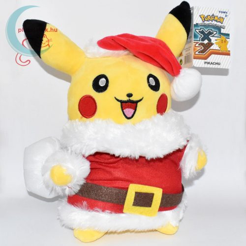 Mikulás Pikachu pokémon plüss