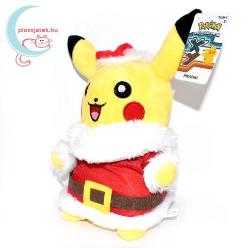 Mikulás Pikachu pokémon plüss balról