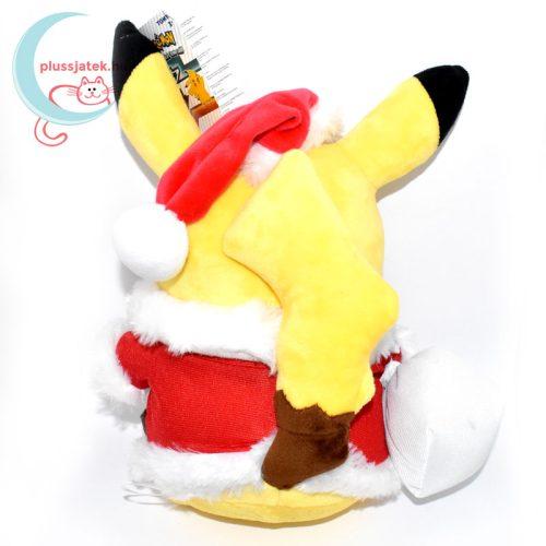 Mikulás Pikachu pokémon plüss hátulról