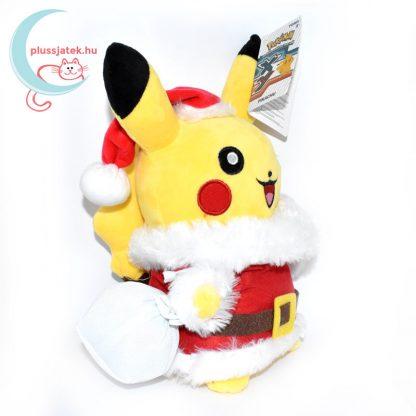 Mikulás Pikachu pokémon plüss jobbról