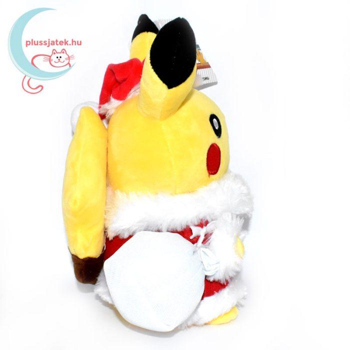 Mikulás Pikachu pokémon plüss oldalról