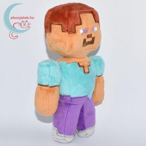 Minecraft Steve plüss jobbról