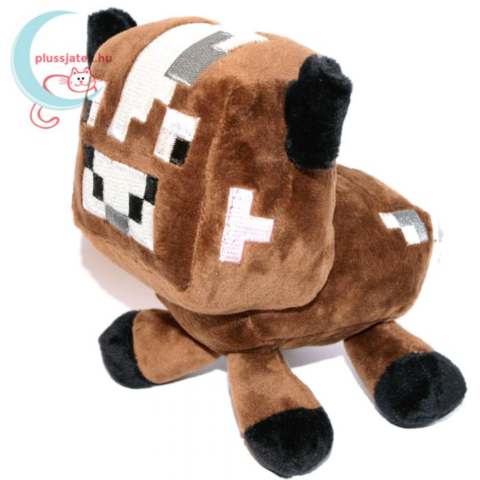 Minecraft barna színű plüss tehén balról