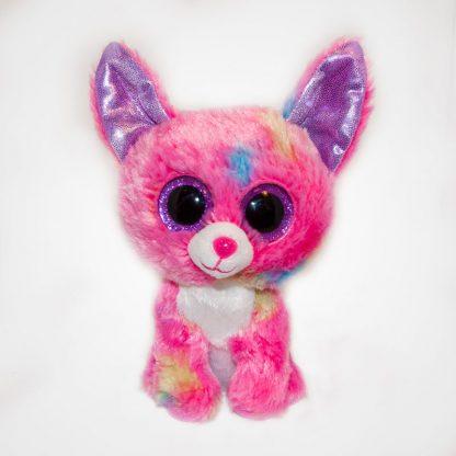 Nagyszemű Ty Beanie Boos Pink Cancun Chihuahua elölről