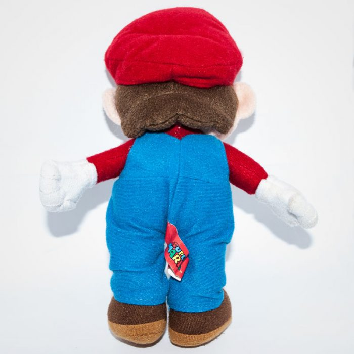 Nintendo Super Maro plüss figura hátulról