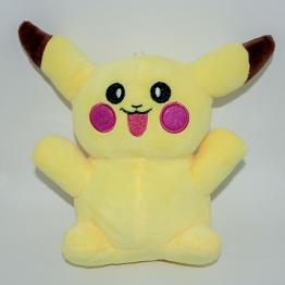 Nyitott szájú 18 cm-es olcsó Pikachu pokémon plüss