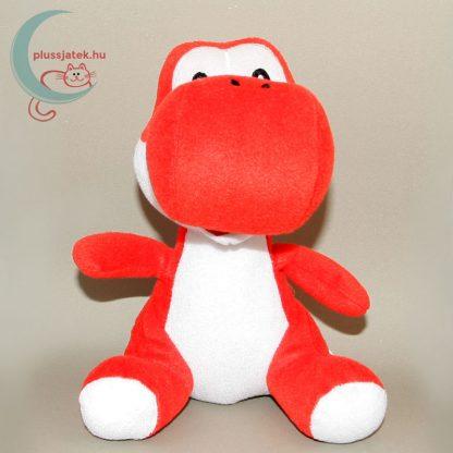 Piros Yoshi plüss (Super Mario Bros) szemből