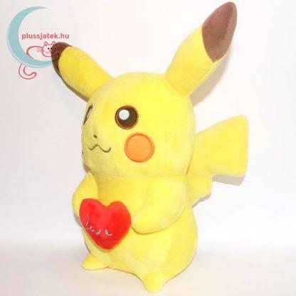 Szerelmes 32 cm-es Pikachu Pokémon plüss balról