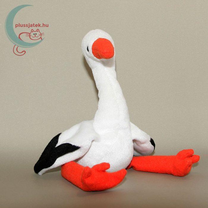 TY Beanie Babies plüss gólya madár szemből