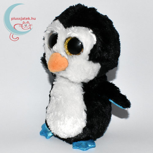 TY nagyszemű fekete plüss pingvin balról