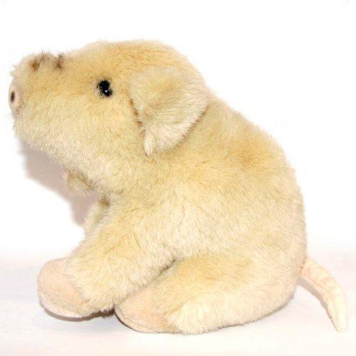 Bézs színű kurtafarkú kis malac plüss balról