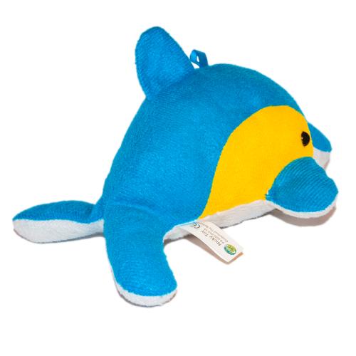 Delfin plüss játékfigura hátulról