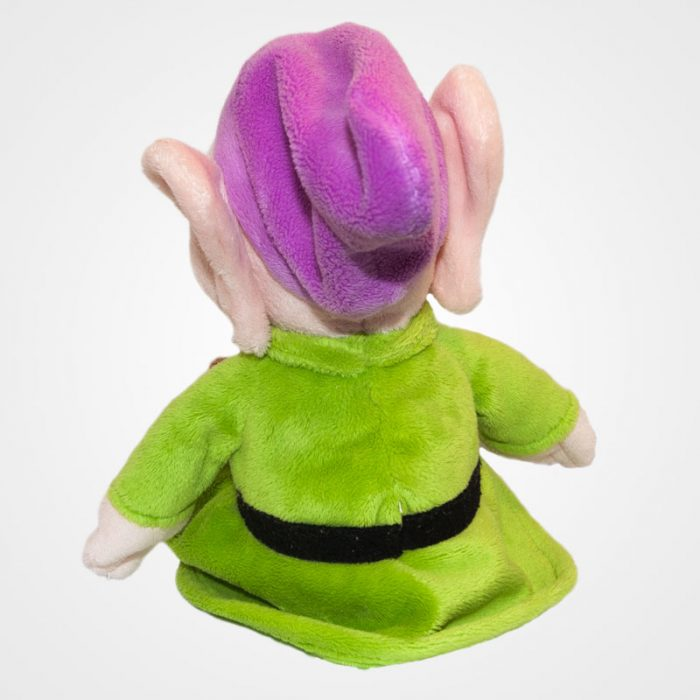 Dopey (Kuka) feliratos törpe a Hófehérkéből hátulról