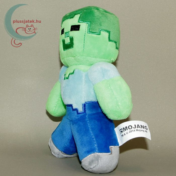 Minecraft zombi plüss figura balról