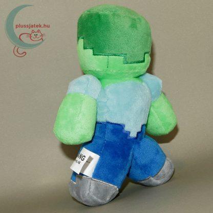 Minecraft zombi plüss figura hátulról