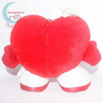 Nagy plüss szívecske (24 cm) egérkével hátulról