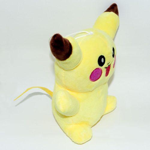 Nyitott szájú nevető pikachu pokémon plüssjáték jobbról