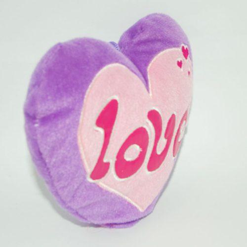 Olcsó lila plüss szív szerelmeseknek jobbról