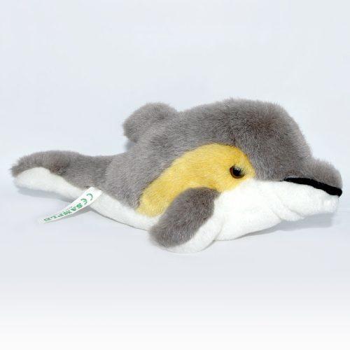 Szürke színű plüss delfin