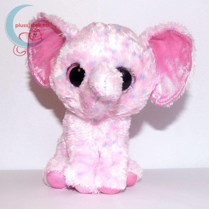TY nagyszemű rózsaszín plüss elefánt
