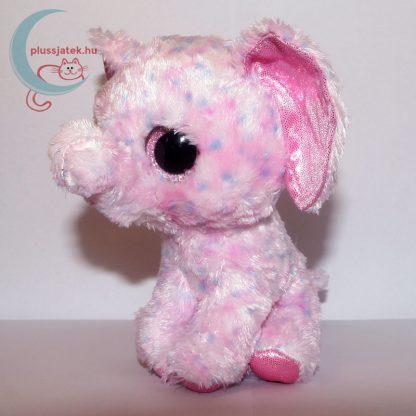 TY nagyszemű rózsaszín plüss elefánt balról